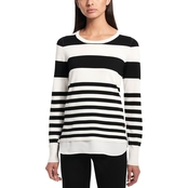Calvin Klein Collection Multi Stripe Twofer Pullover Sweater