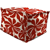 Jordan 20 In. Square Pouf with Flange Ottoman