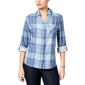 Style & Co. Petite Cotton Plaid Utility Shirt