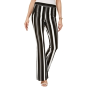 INC International Concepts Petite Striped Ponte Knit Bootcut Pants