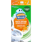 Scrubbing Bubbles Fresh Brush Toilet Cleaning Starter Kit with Stand