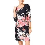 Charter Club Petite Floral Print Shift Dress