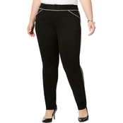 INC International Concepts Plus Size Piped Skinny Pants