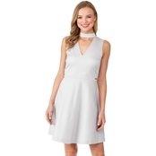 Armani Exchange Mock Neck A-line Dress