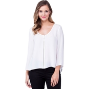 Armani Exchange Front Zip Blouse