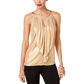 Thalia Sodi Metallic Halter Top