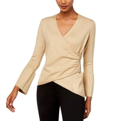 Thalia Sodi Bell Sleeve Wrap Sweater