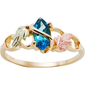Black Hills Gold Women's 10K Ring with Blue Topaz