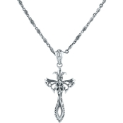 Robert Manse Designs Sterling Silver Tribal Cross Pendant on 22 In. Chain