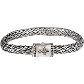 Robert Manse Designs Sterling Silver 18K Gold Tulang Naga Bracelet with Cross