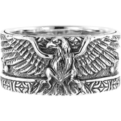Robert Manse Designs Sterling Silver Carved Eagle Band Ring