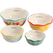 Pioneer Woman Spring 4 Pc. Measuring Bowl Set