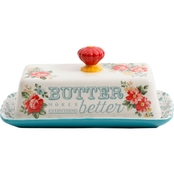 Pioneer Woman Vintage Floral 2 Pc. Butter Dish