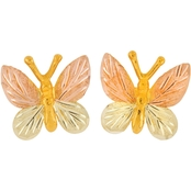 Black Hills Gold Butterfly Earrings