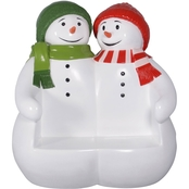 Design Toscano Powder Pals Holiday Snowman Bench