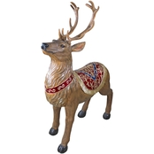 Design Toscano Santa's North Pole Illuminated Reindeer Holiday Statue