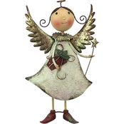 Design Toscano Holiday Helper Metal Angel Statue Collection, Clara