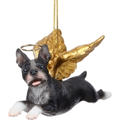 Design Toscano Honor the Pooch - Boston Terrier Holiday Dog Angel Ornament