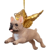 Design Toscano Honor the Pooch French Bull Holiday Dog Angel Ornament