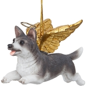Design Toscano Honor the Pooch - Siberian Husky Holiday Dog Angel Ornament