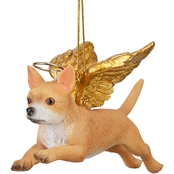 Design Toscano Honor the Pooch - Chihuahua Holiday Dog Angel Ornament
