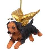 Design Toscano Honor the Pooch - Rottweiler Holiday Dog Angel Ornament