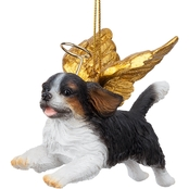 Design Toscano Honor the Pooch - Charles Cavalier Holiday Dog Angel Ornament