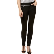 INC International Concepts Ponte Pipe Trim Skinny Pants