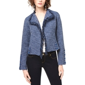 INC International Concepts Lace Up Tweed Cardigan