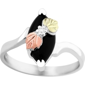 Landstrom's Black Hills Gold Sterling Silver Onyx Ring