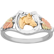 Black Hills Gold Sterling Silver Horse Ring
