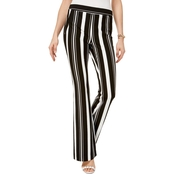 INC International Concepts Striped Ponte Knit Bootcut Pants
