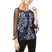 INC International Concepts Embroidered Mesh Top