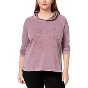 Style & Co. Plus Size Cotton Embroidered Hoodie