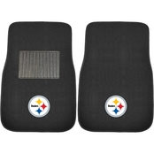 Fan Mats NFL Embroidered 18 x 27 in. 2 Pc. Car Mat Set
