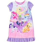 My Little Pony Toddler Girls Dorm Gown with Doll Dress