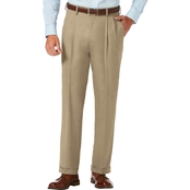 Haggar Sharkskin Pleat Front Dress Pants