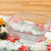 Pioneer Woman Adeline 8 x 8 Baker, Square, Clear Glass