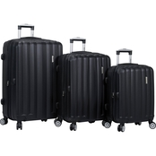 Dejuno Camden ABS Spinner Luggage 3 pc. Set