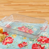 Pioneer Woman Adeline 9 x 13 Small Baker, Clear Glass