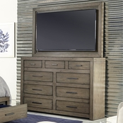 aspenhome Modern Loft Chesser and TV Frame