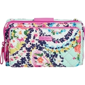 Vera Bradley Iconic Deluxe All Together Crossbody, Wildflower Paisley