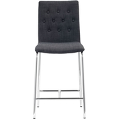 Zuo Modern Uppsala Counter Chair Graphite 2 Pk.