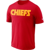 Nike NFL Team Kansas City Chiefs Dri Fit Wordmark Tee