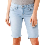 YMI Jeans Juniors Wannabettabutt Single Button 11 in. Bermuda Shorts