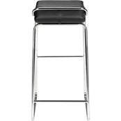Zuo Modern Wedge Barstool Black 2 Pk.