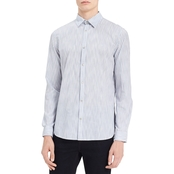Calvin Klein Jeans Space Dyed Banker Stripe Button Down Shirt