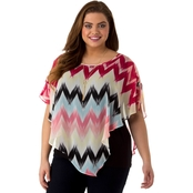 AGB Plus Size Printed Popover