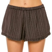 O'Neill Juniors Wendell Textured Stripe Shorts