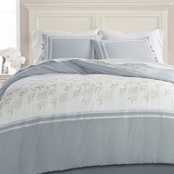 Martha Stewart Collection Embroidered Floral Reversible 8-Pc. Comforter Set